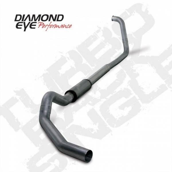 """Diamond Eye  - 03-07 6.0L 5"""" Stainless Turbo Back Single NO Muffler - DE-K5350S-RP"""