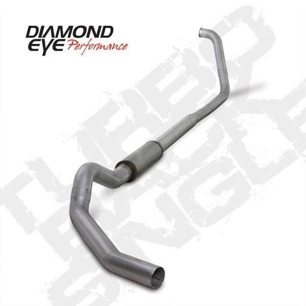"""Diamond Eye  - 03-07 6.0L 5"""" Aluminized Turbo Back Single W/ muffler - DE-K5350A"""