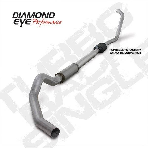 "Diamond Eye  - 03-07 6.0L 5"" Aluminized Turbo Back Single NO muffler - DE-K5342A-RP"