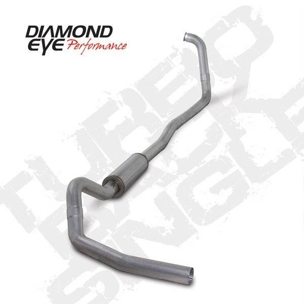 "Diamond Eye  - DIAMOND EYE 03-07 6.0L 4"" Aluminized turbo back singe exhaust system W/ muffler - DE-K4346A"