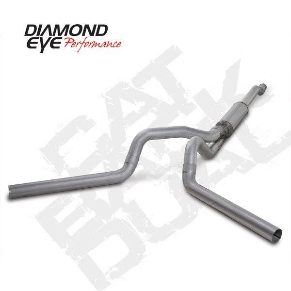"Diamond Eye  - 03-07 6.0L 4"" Aluminized Cat Back Dual Exhaust W/ muffler - DE-K4340A"