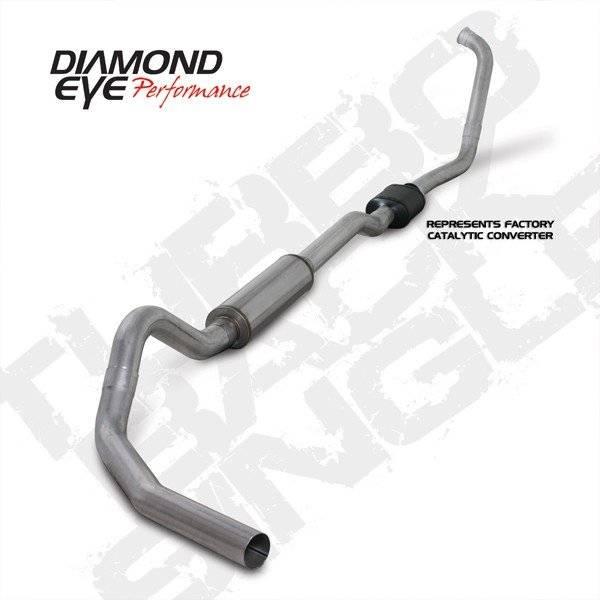 """Diamond Eye  - 03-07 6.0L 4"""" Aluminized Turbo Back Single W/ muffler - DE-K4334A"""