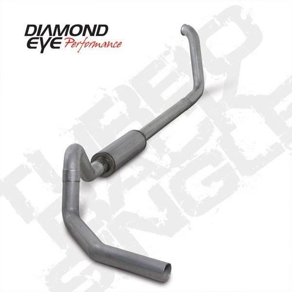 """Diamond Eye  - DIAMOND EYE 99-03 7.3L 4"""" Aluminized turbo back single W/ muffler - DE-K4326A"""