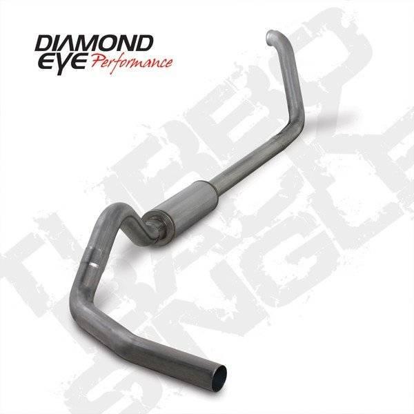 "Diamond Eye  - DIAMOND EYE 99-03 7.3L 4"" Stainless turbo back single exhaust W/ muffler - DE-K4318S"