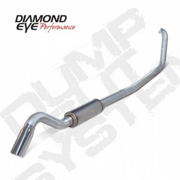 "Diamond Eye  - DIAMOND EYE 99-03 7.3L 4"" Aluminized turbo back turn down W/ tip & muffler - DE-K4318A-TD"