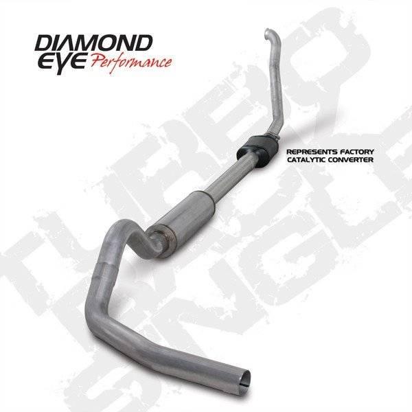 """Diamond Eye  - DIAMOND EYE 94-97 7.3L 4"""" Aluminized turbo back single exhaust W/ muffler - DE-K4306A"""