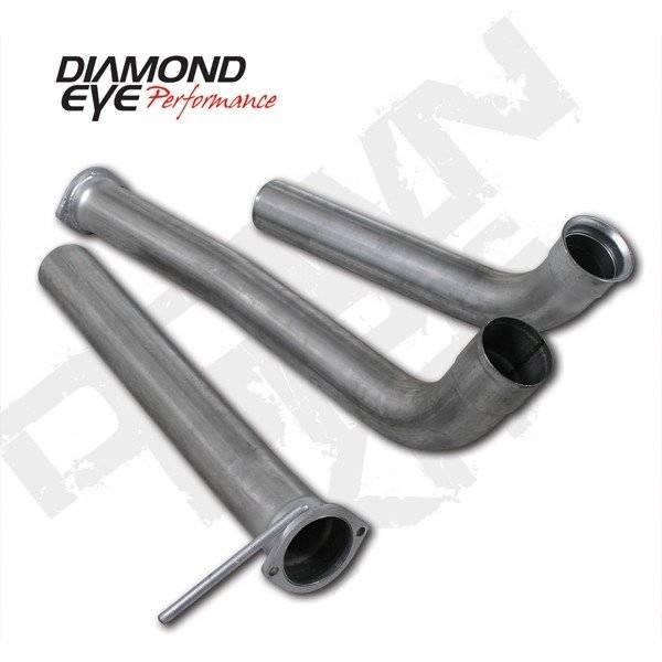 """Diamond Eye  - DIAMOND EYE 03-07 6.0L Aluminized 3.5"""" off road down pipe - DE-126004"""