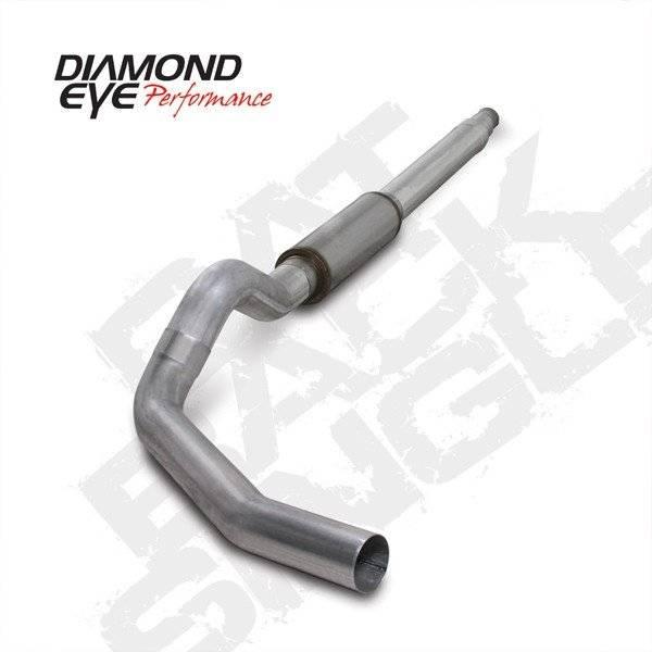 """Diamond Eye  - DIAMOND EYE 94-97 7.3L 5"""" Aluminized cat back single W/ muffler - DE-K5316A"""