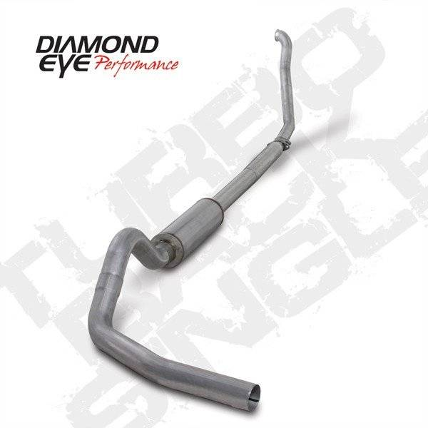 "Diamond Eye  - DIAMOND EYE 94-97 7.3L 4"" Aluminized turbo back single W/ muffler - DE-K4307A"
