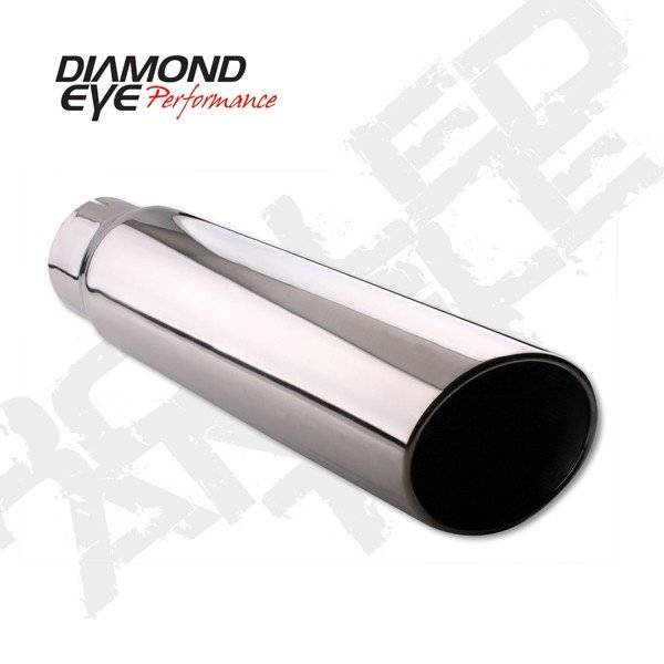 "Diamond Eye  - DIAMOND EYE 3.5"" - 4"" Polished 304 Stainless steel tip rolled angel cut 12"" long - DE-354012RAC"