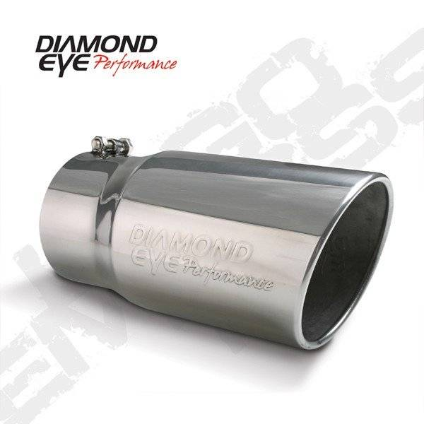 "Diamond Eye  - DIAMOND EYE Stainless bolt on rolled angle logo embossed 5"" X 6"" X 12"" long - DE-5612BRADE"