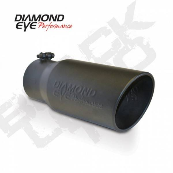 "Diamond Eye  - DIAMOND EYE Stainless bolt-on rolled angle  logo embossed 4"" x 5"" x 12"" long black - DE-4512BRA-DEBK"