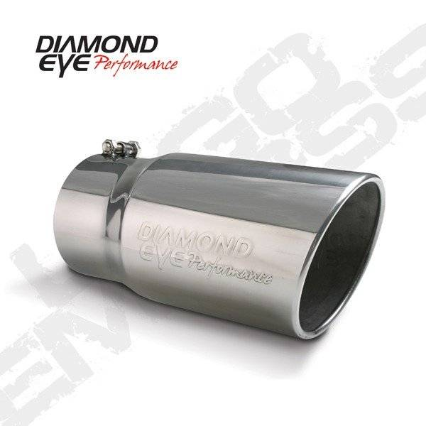 Diamond Eye  - DIAMOND EYE Stainless bolt on rolled angle logo embossed polished 4 x 5 x 12 long - DE-4512BRA-DE