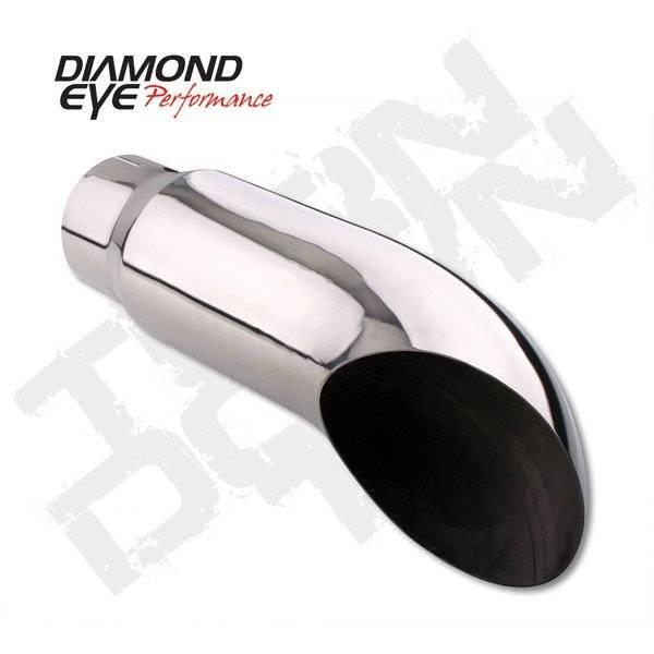 Diamond Eye  - DIAMOND EYE Stainless weld/clamp on turn down 4 x 5 x 18 long - DE-4418TD
