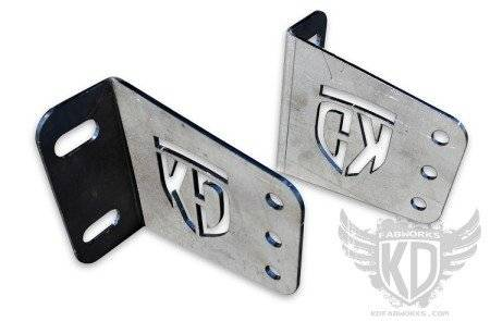 "KD Fabworks - KD FABWORKS 11-16 F250/F350 BUMPER BRACKETS FOR STRAIGHT 40"" LED LIGHT BARS - KDF-TR-0010"