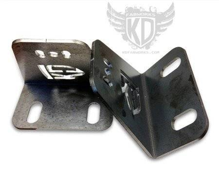 "KD Fabworks - KD FABWORKS BUMPER BRACKETS FOR CURVED 40"" LED LIGHT BARS"