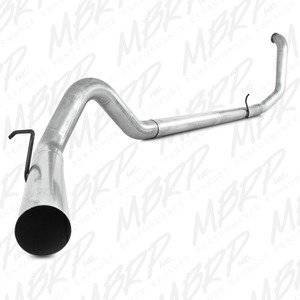 "MBRP Exhaust - MBRP 99-03 7.3L 4"" F-250/350 Aluminized turbo back single NO muffler - MBRP-S6200PLM"