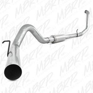 "MBRP Exhaust - MBRP 99-03 7.3L 4"" F-250/350 Aluminized turbo back single W/ muffler - MBRP-S6200P"