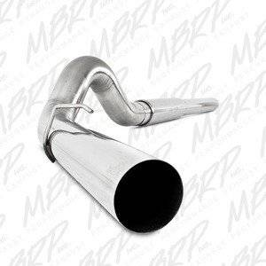 "MBRP Exhaust - MBRP 03-07 F-250/350 6.0L EC/CC 5"" Stainless cat back single side W/ tip and muffler - MBRP-S62260409"