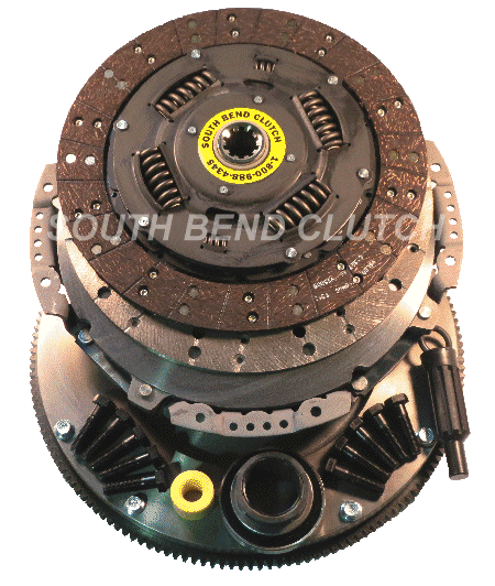South Bend Clutch - SOUTH BEND CLUTCH W/ SOLID MASS FLYWHEEL 5SP 7.3L 94.5-98 375HP 1944-5OK