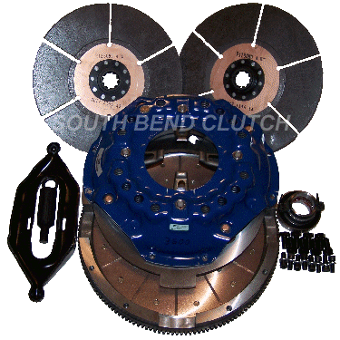 South Bend Clutch - SOUTH BEND CLUTCH SFI COMP DUAL DISC 850HP 5SP ZF5 7.3L POWERSTROKE 94.5-98 FDDC36005
