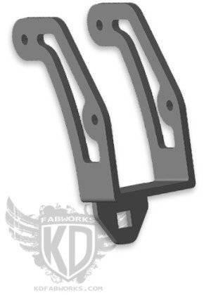 KD Fabworks - KD FABWORKS 99-16 F250/350 RIGID DUALLY ADAPTER BRACKET - KDF-TR-0007