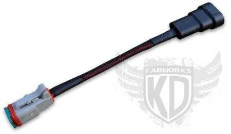 KD Fabworks - KD FABWORKS Plug-and-Play LED Light Adapter Harness H10/9005/9006 - KDF-TR-H10