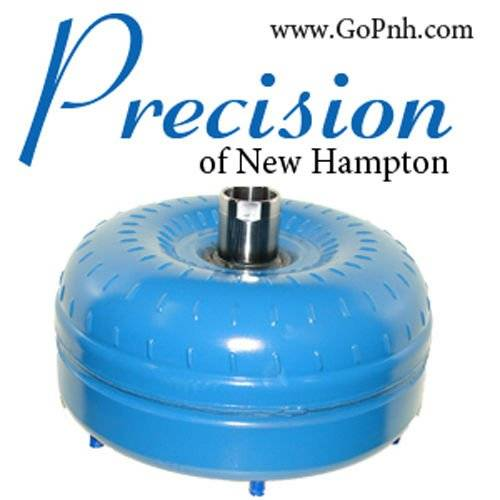 Precision of New Hampton - PRECISION of NH 03-06 6.0L Triple Disc Billet Cover Torque Converter - 2649A-PS-RV