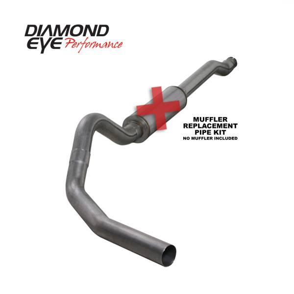 "Diamond Eye  - DIAMOND EYE 03-07 6.0L 4"" Stainless cat back single exhaust system NO muffler - DE-K4338S-RP"