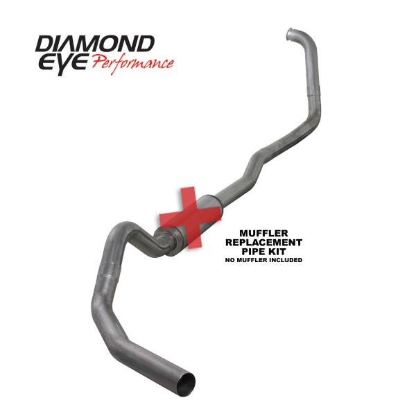 "Diamond Eye  - DIAMOND EYE 03-07 6.0L 4"" Stainless turbo back single NO muffler - DE-K4346S-RP"
