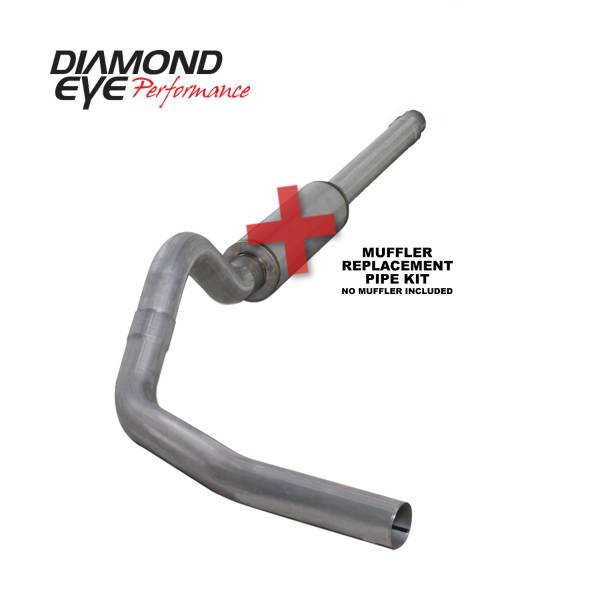 "Diamond Eye  - DIAMOND EYE 94-97 7.3L 4"" Aluminized cat back single NO muffler - DE-K4310A-RP"