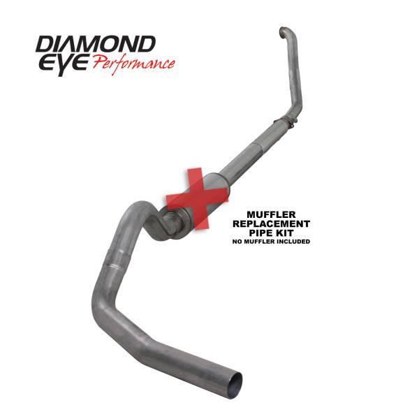 "Diamond Eye  - DIAMOND EYE 94-97 7.3L 4"" Stainless turbo back single NO muffler - DE-K4307S-RP"