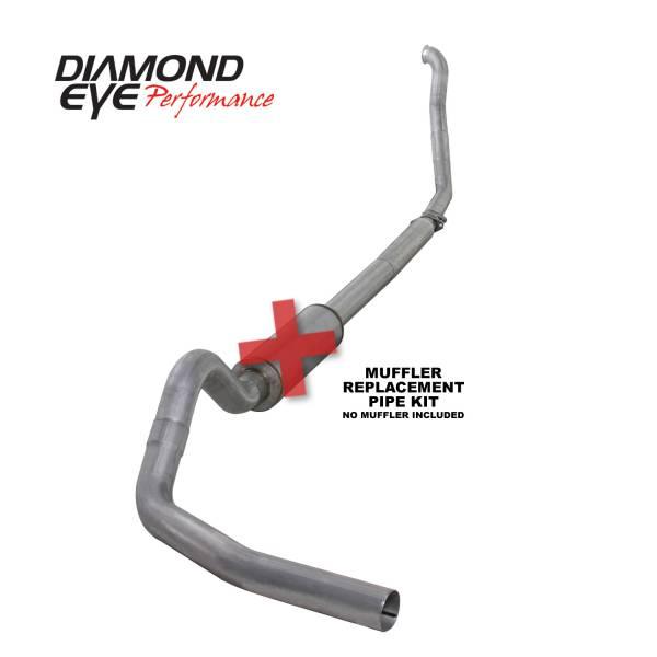 "Diamond Eye  - DIAMOND EYE 94-97 7.3L 4"" Aluminized turbo back single NO muffler - DE-K4307A-RP"