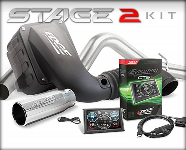Edge Products - EDGE PRODUCTS FORD 1999-2003 7.3L STAGE 2 PERFORMANCE KIT ( EVOLUTION CTS2/JAMMER CAI DRY W/O 19122-D