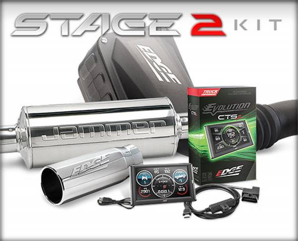 Edge Products - EDGE PRODUCTS FORD 2015-2016 6.7L STAGE 2 PERFORMANCE KIT ( EVOLUTION CTS2/JAMMER CAI DRY SIN 19130-D