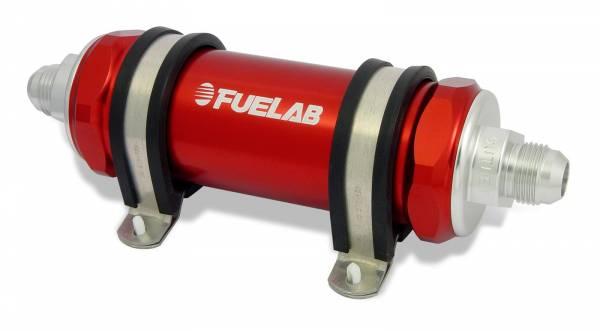 FUELAB - Fuelab Inline Fuel Filter 75 Micron Red -82823-2