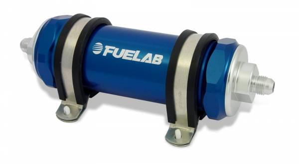 FUELAB - Fuelab Inline Fuel Filter 75 Micron Blue- 82823-3