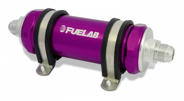 FUELAB - Fuelab Inline Fuel Filter 75 Micron Purple-82823-4