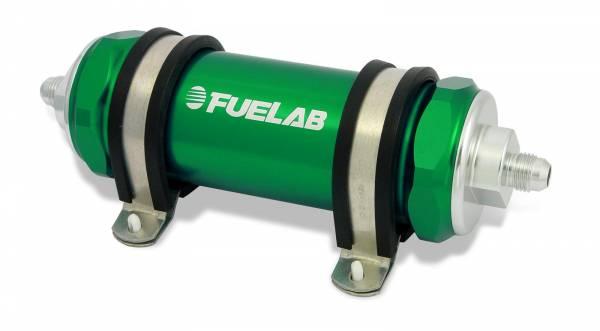 FUELAB - Fuelab Inline Fuel Filter 75 Micron Green-82823-6