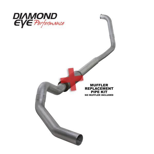"Diamond Eye  - 03-07 6.0L 5"" Aluminized Turbo Back Single NO muffler - DE-K5350A-RP"