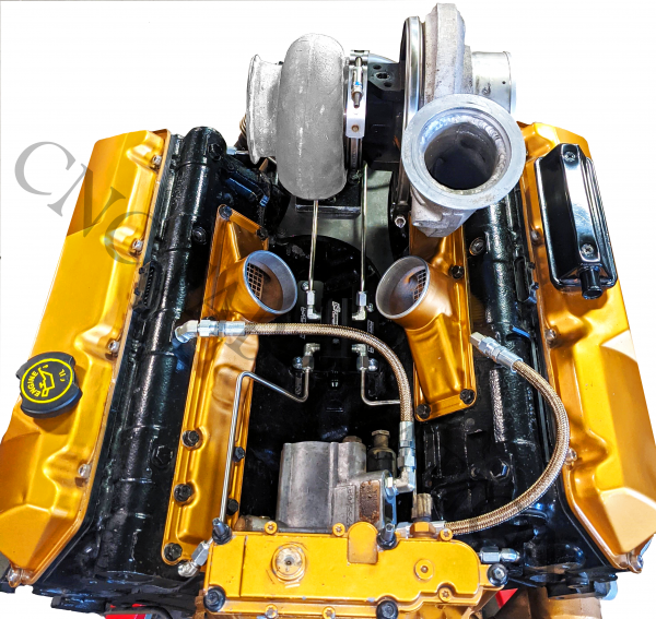 CNC Fabrication - CNC Fabrication 94.5-03 7.3L Competition Fuel Line Kit - 7.3-VMFK-T4