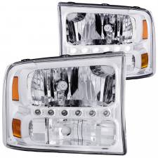 Lighting - Headlights - Anzo USA - ANZO 00-04 Excursion 99-04 Superduty crystal 1pc LED - ANZO-111088