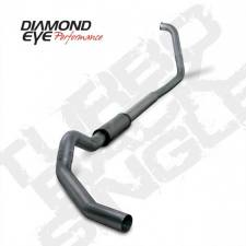 "SHOP BY BRAND - Diamond Eye - Diamond Eye  - 03-07 6.0L 5"" Stainless Turbo Back Single NO Muffler - DE-K5350S-RP"