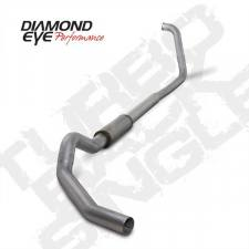 "Diamond Eye  - DIAMOND EYE 03-07 6.0L 5"" Aluminized turbo back single W/ muffler - DE-K5350A"