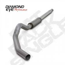 "Diamond Eye  - DIAMOND EYE 03-07 6.0L 5"" Aluminized  CAT back single W/ muffler - DE-K5344A"