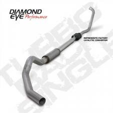 "Diamond Eye  - DIAMOND EYE 03-07 6.0L 5"" Aluminized turbo back single NO muffler - DE-K5342A-RP"