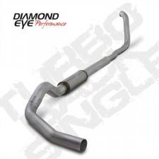"Diamond Eye  - DIAMOND EYE 99-03 7.3L 5"" Aluminized turbo back single W/ muffler - DE-K5322A"