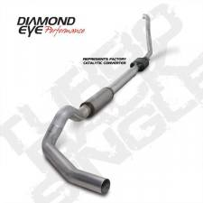 "Diamond Eye  - DIAMOND EYE 94-97 5"" Aluminized turbo back single W/ muffler - DE-K5314A"
