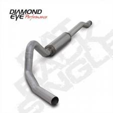 "Diamond Eye  - DIAMOND EYE 03-05 6.0L Aluminized 4"" Cat back single Excursion NO muffler - DE-K4354A-RP"