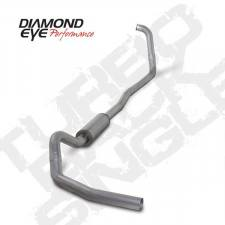 "Diamond Eye  - DIAMOND EYE 03-07 6.0L 4"" Aluminized turbo back single exhaust system NO muffler - DE-K4346A-RP"